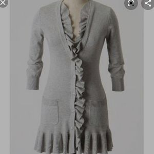 Anthropologie/ tabitha ruffled cardigan